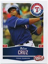 2010 Texas Rangers Dr. Pepper #9 Nelson Cruz SGA Seattle Mariners