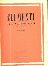 SC13 SPARTITO Clementi Gradus ad parnassum pianoforte Vol. II -ed. Ricordi