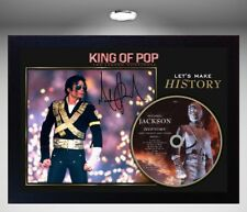 "Michael Jackson SIGNED FRAMED PHOTO AND ""History"" CD Disc Presentation Display"