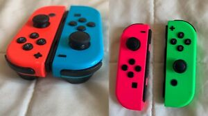 Nintendo Switch Joy Con 4x Lot (2 sets total), Red/Blue, Pink/Green with flaws