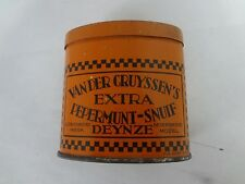 VINTAGE ADVERTISING VANDER GRUYSSEN'S PEPERMUNT SNUIF TOBACCO   POCKET TIN 647-E