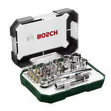 NEW Bosch 2607017322 Screwdriver Bit and Ratchet Set Hand Tool Kit - 26 Pieces