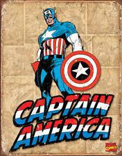 The Avengers Captain America Tin Metal Signs Marvel Comics Comic Book Superhero