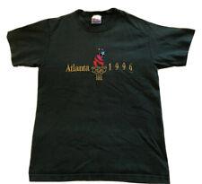 Vintage Medium Embroidered Green Atlanta 1996 tm Olympics 100 T-Shirt  Hanes