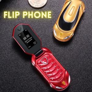 Car design mini flip unlocked mobile phones cheap push button Fold cell phone