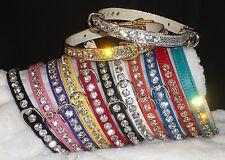 Rhinestone Luxury Dog Collars Bling! Crystal Jewels small pet sizes