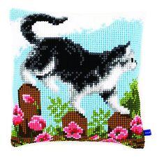 Trama grossa Cross Stitch Cuscino ANTERIORE KIT esplorare il giardino ~ 40x40cm da Vervaco