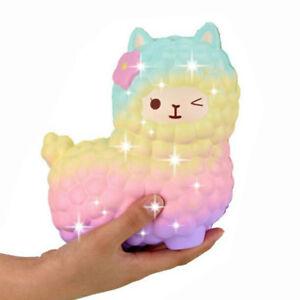 Jumbo 12cm Squishy Alpaca Galaxy Super Slow Rising Cream Scented Animal Toys US