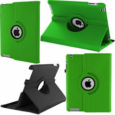 360 Rotating Leather Case Smart Cover Stand for Apple iPad 2 3 4 Green