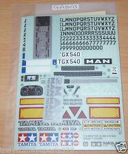 Tamiya 56329 MAN TGX 18.540 4x2 XLX, 9495693/19495693 Decals/Stickers, NIP