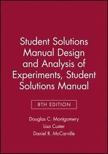 Student Solutions Manual Design and Analysis of Experiments, 8e Student Solution