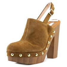 Decolté e sabot da donna scarpe con chiusura sul tallone marrone tacco altissimo ( oltre 11 cm )