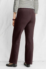 Starfish Pants 3X Lands End Dark Brown Yoga Casual Flat Waist Sold Out! NEW!