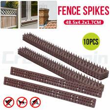 10x Bird Spikes Human Cat Possum Mouse Pest Control Spiked Fence Wall Deterrent