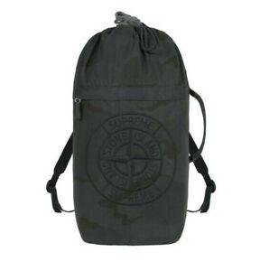 Supreme x Stone Island Black Camo Backpack - Brand New / In-Hand / BNWT