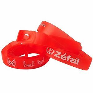 Zefal Soft PVC Bike Cycle Wheel Rim Tape - 22mm - 26 Inch Wheel - Red