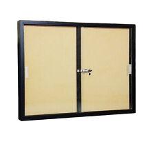 48x36 Message Box Cork Board Bulletin Board Lock Sliding Glass Door Bulletin