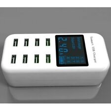 8 Port USB Desktop Smart Digital Charging Station Fast Charge LED Display Home