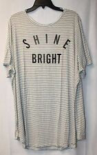 NEW WOMENS PLUS SIZE 3X OLD NAVY SHINE BRIGHT RELAXED CURVED HEM TEE SHIRT TOP