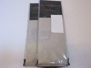 2 Donna Karan Silk Essentials Standard Shams Platinum $630
