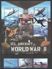 D0176 LIBERIA MILITARY US AIRCRAFTS OF WORLD WAR II WWII CLASSIFIED KB+SET MNH