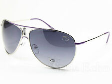 Classic Metal Aviator Womens Designer Sunglasses Logo on Lens Edge New