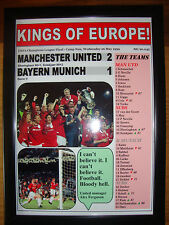 Manchester United 2 Bayern Munich 1 - 1999 Champions League - framed print