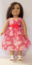 "Red and White Sundress Fits 18"" American Girl Dolls"