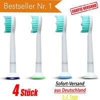▀▀ 4 Stück Ersatzbürsten für Philips Sonicare Aufsteckbürsten Bürstenköpfe 4x ▀▀