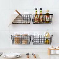 Wandhalterung Draht Metall Aufbewahrungskorb Ablage Kiste Rechteckig Büro Küche