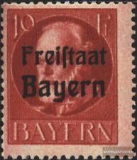 Bayern 155A postfrisch 1919 König Ludwig mit Aufdruck
