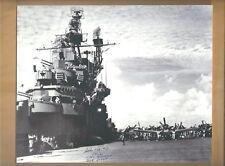 John Wolf WW2 Ace Pilot (7 Kills) USS Hornet Autographed 8x10 Picture