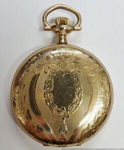 Heavy Large Gold Filled Elgin Grade 312 Model 6 16s 15j Mens Hunter Pocket Watch