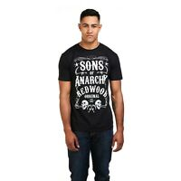 Sons of Anarchy - Redwood - Mens - Official Licensed - T-shirt - Black - S-XXL