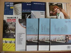 10 Belgian Railway Train Timetables Maps Leaflets 2004 - 2013 SNCB NMBS Set 1