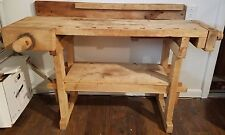 ANTIQUE Hammacher Schlemmer Woodworker's Bench Workbench, Kitchen Island, Desk