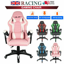 More details for gaming chairs racing office executive recliner computer desk chair with footrest