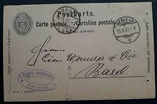 1902 Switzerland 5c Stamped Postcard cancelled Herisau to Basel