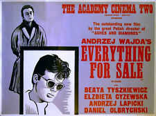 EVERYTHING FOR SALE 1968 Andrzej Wajda PETER STRAUSFELD UK QUAD POSTER