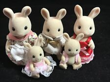 CALICO CRITTERS SYLVANIAN FAMILIES BUTTERMILK RABBIT FAMILY