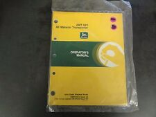 John Deere AMT 622 All Material Operator's Manual  OMW40634 Issue L9