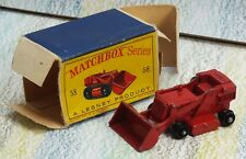 Matchbox Lesney # 58b Drott Excavator VGinFB black rollers, no treads