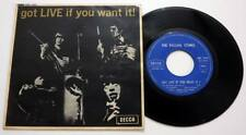 "THE ROLLING STONES : Got Live if you Want it ! 7"" 45 EP vinyl Belgian SDE 7502"