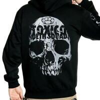 Toxico London Death Squad Mens Zipped Hoodie Tattoo Alternative Skate Streetwear