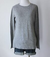MOSSIMO Heathered Crewneck Long Sleeve Stretch Fitted Knit T Shirt Blouse Top M