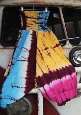 L@@K!NEW!FREESIZE-8/10/12/14 TIE DYE ALIBABA BOHO HIPPIE GYPSY HAREM PANTS-OS90