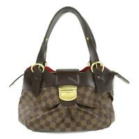 Auth LOUIS VUITTON Sistine PM Hand Shoulder Bag N41542 Damier Canvas Used LV