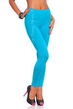 longue turquoise Premium Leggings coton confortable & Élastique tailles 8-22