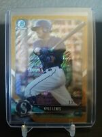 Kyle Lewis 2018 Bowman Chrome Gold Shimmer Rookie 13/50 Rookie of the Year