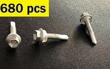 Qty 680 Hex Metal Self Drilling Screw 5 x 25mm Galvanised Screw